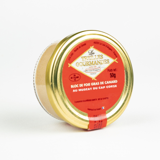 Bloc de foie gras de canard au Muscat du Cap Corse
