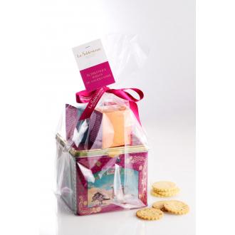 Lot Distributrice Les Jouets d'Adèle avec des Sablés nature, chocolat, caramel et framboise