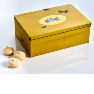 Boite Petits Macarons Meringués caramel beurre salé